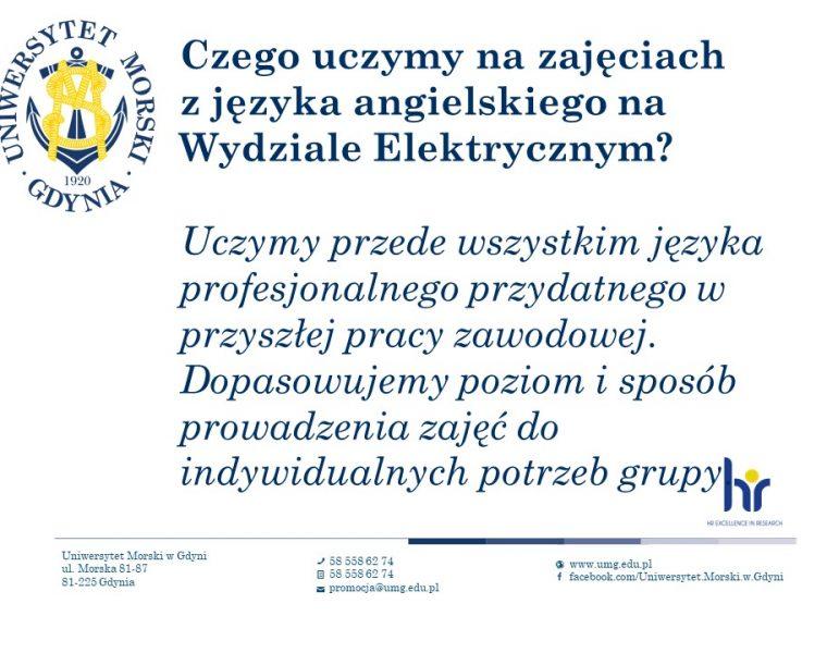 Wydział Elektryczny - język angielski - 3