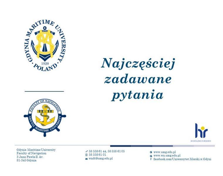 Wydział Nawigacyjny - język angielski - 2