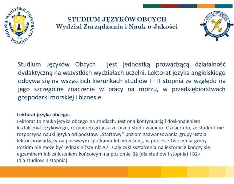 Wydział Zarządzania i Nauk o Jakości - j. angielski -2