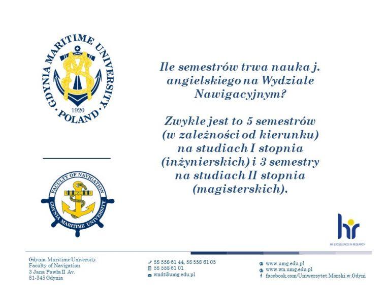 Wydział Nawigacyjny - język angielski - 3