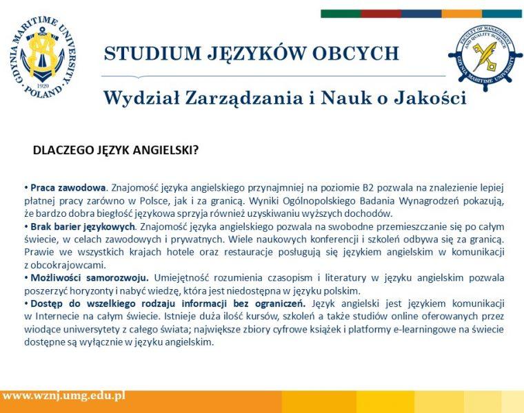 Wydział Zarządzania i Nauk o Jakości - j. angielski -3