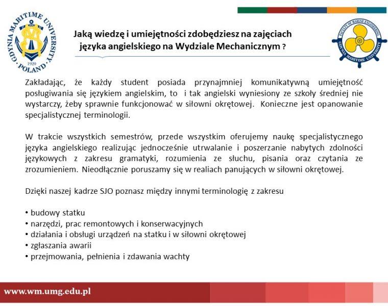 Wydział Mechaniczny - język angielski - 3
