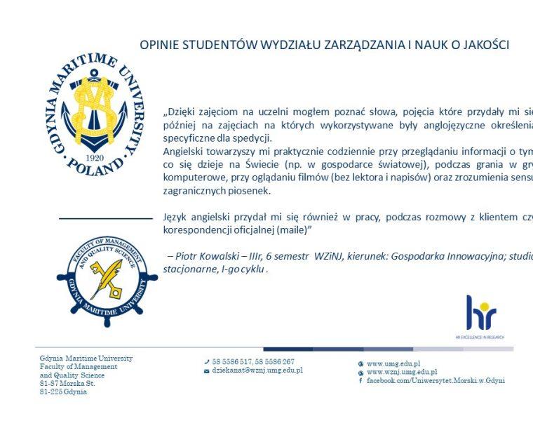 Wydział Zarządzania i Nauk o Jakości - j. angielski -4