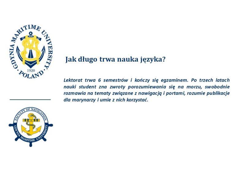 Wydział Nawigacyjny - język angielski - 4