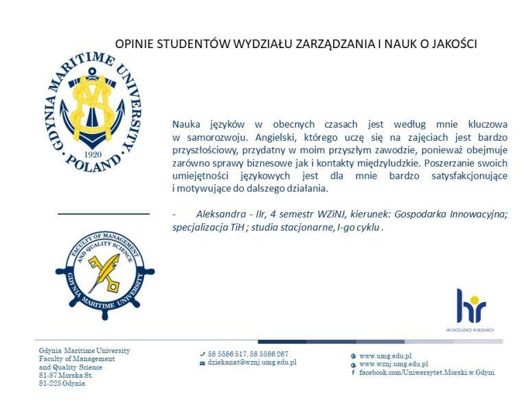 Wydział Zarządzania i Nauk o Jakości - j. angielski -5