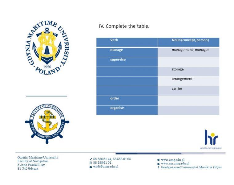 Wydział Nawigacyjny - język angielski - 9